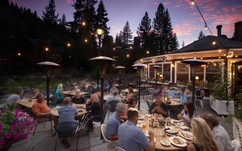 river ranch patio dining on the truckee river
