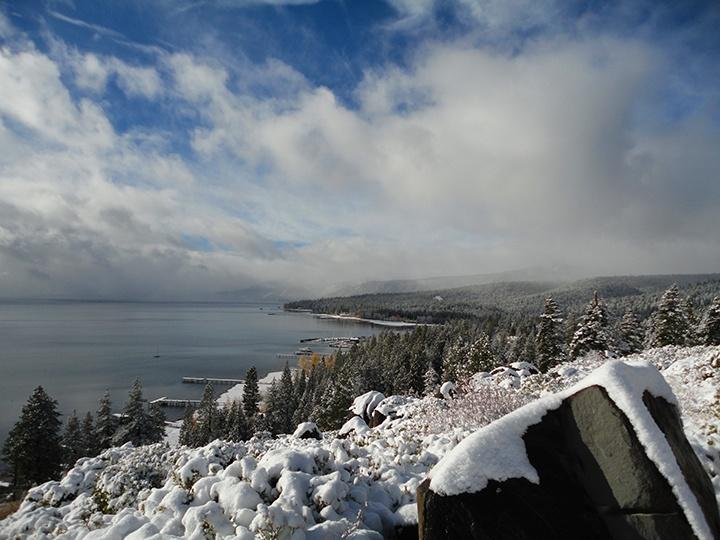 snow storm photos of lake tahoe
